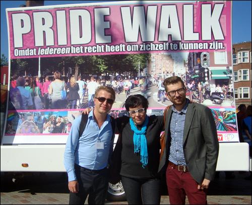 Марш гомосексуалистов в амстердаме